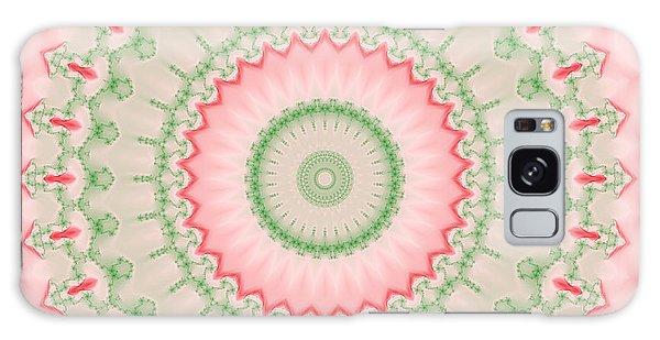 Pink And Green Mandala Fractal 004 Galaxy Case