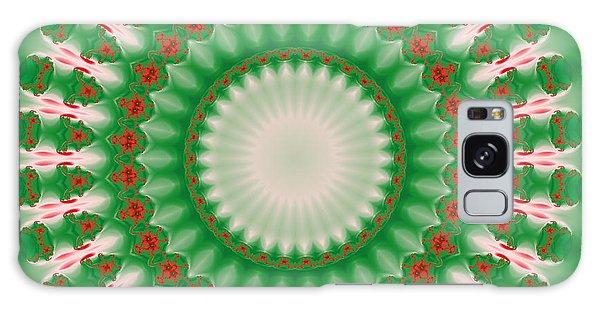 Pink And Green Mandala Fractal 005 Galaxy Case