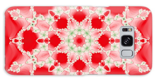 Pink And Green Watercolor Snowflake Fractal Galaxy Case