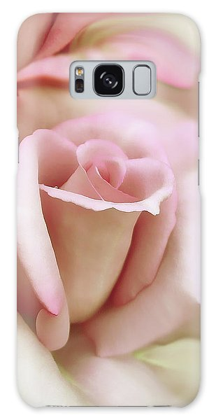Marie Galaxy Case - Pink And Ivory Rose Portrait by Jennie Marie Schell