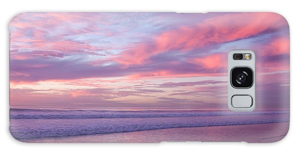 Pink And Lavender Sunset Galaxy Case