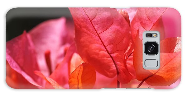 Orange Galaxy Case - Pink And Orange Bougainvillea by Rona Black