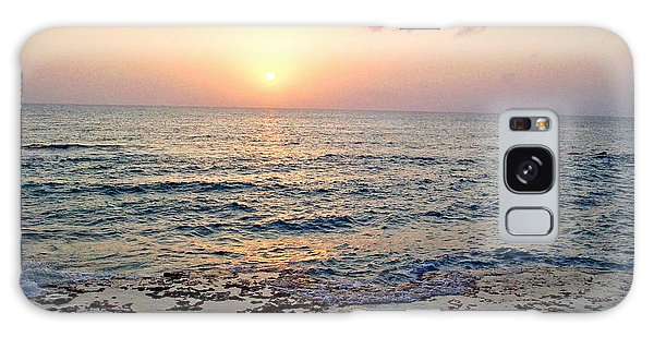 Pink And Purple Sunset Over Grand Cayman Galaxy Case by Amy McDaniel