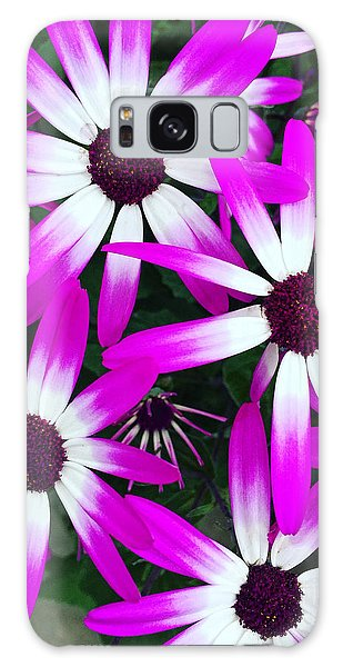 Pink And White Flowers Galaxy Case