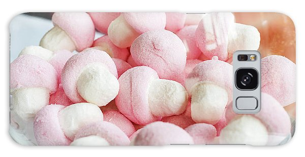 Pink And White Marshmallows In Bowl Galaxy Case