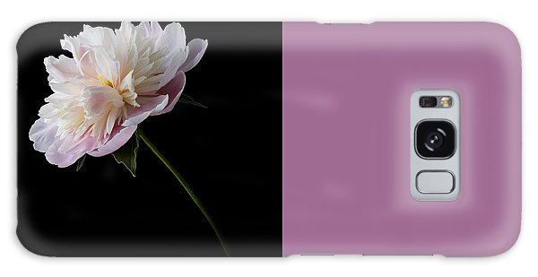 Pink And White Peony Galaxy Case by Patti Deters