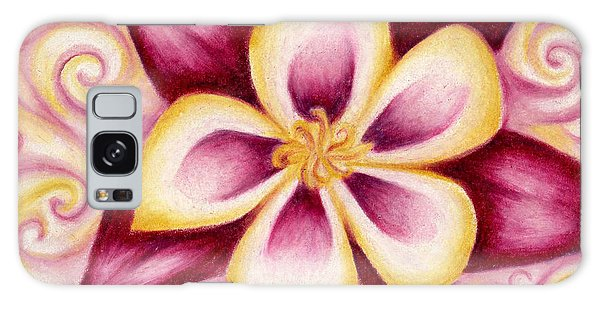 Pink And Yellow Columbine Flower Drawing Galaxy Case
