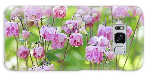 Aquilegia Galaxy Case - Pink Aquilegia Flowers by Tim Gainey