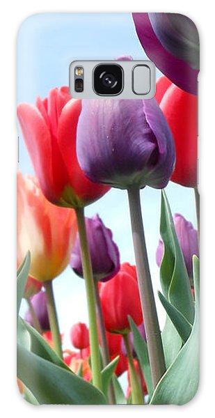 Pink Baby In Tulip Garden Galaxy Case
