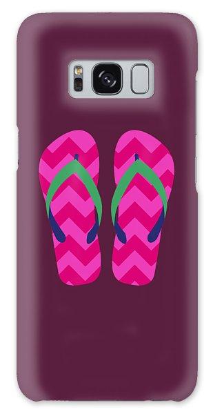 Galaxy Case featuring the digital art Pink Beach Sandals by Jennifer Hotai