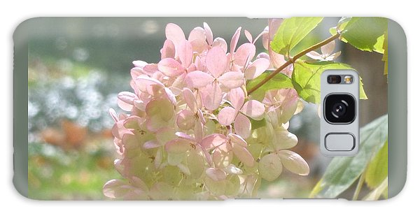 Pink Bloom In Sun Galaxy Case