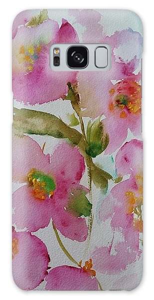 Pink Bloom Galaxy Case by Kathy  Karas