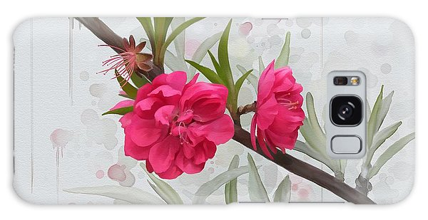 Galaxy Case featuring the painting Hot Pink Blossom by Ivana Westin