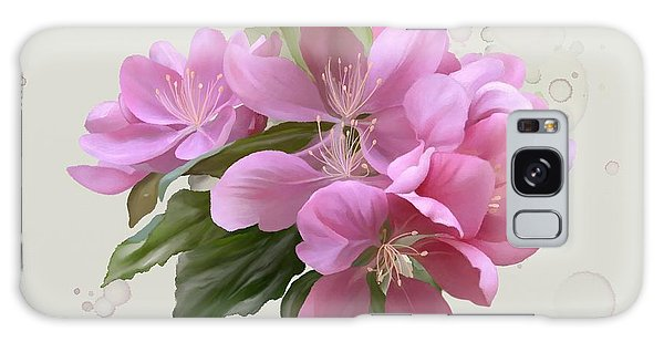 Galaxy Case featuring the painting Pink Blossoms by Ivana Westin