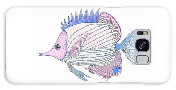 Pink Blue Fish Galaxy Case