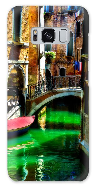 Pink Boat And Canal Galaxy Case