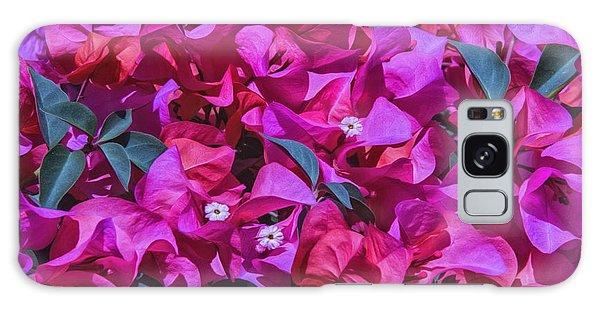 Pink Bougainvillea Galaxy Case