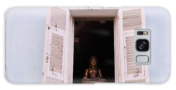Galaxy Case featuring the photograph Pink Buddha by Rasma Bertz
