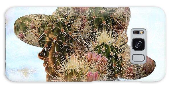 Pink Cactus Galaxy Case