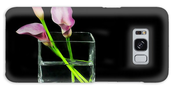 Vase Of Flowers Galaxy Case - Pink Callas by Diana Angstadt