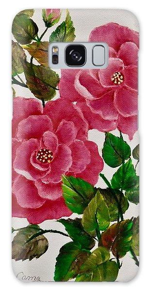 Pink Camellias Galaxy Case