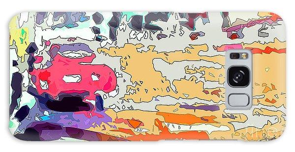 Pink Car Urban Graffiti Galaxy Case by Ginette Callaway