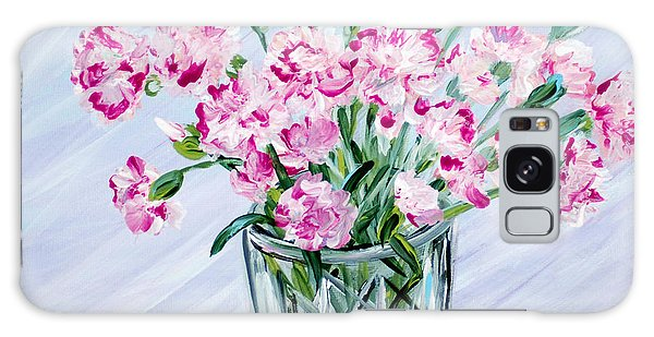 Pink Carnations In A Vase. For Sale Galaxy Case