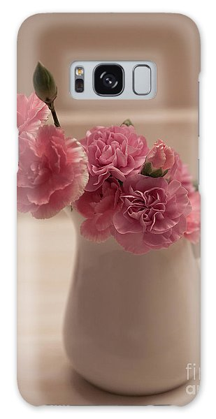 Pink Carnations Galaxy Case by Sherry Hallemeier