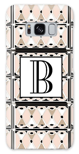 Pink Champagne Deco Monogram  B Galaxy Case