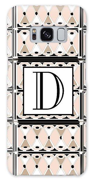 Pink Champagne Deco Monogram  D Galaxy Case
