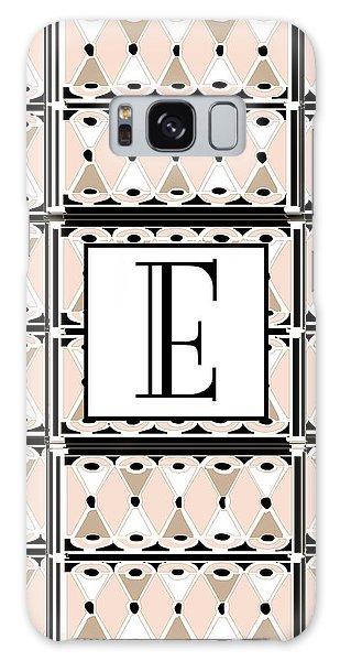 Pink Champagne Deco Monogram  E Galaxy Case