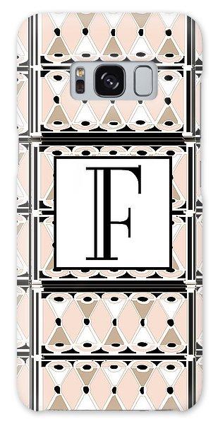 Pink Champagne Deco Monogram  F Galaxy Case