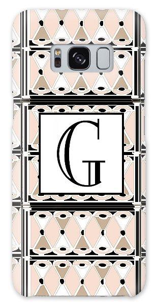 Pink Champagne Deco Monogram  G Galaxy Case