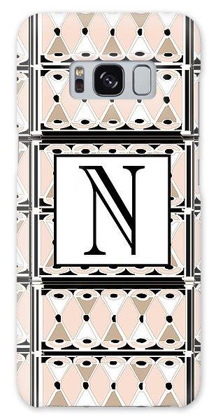 Pink Champagne Deco Monogram  N Galaxy Case