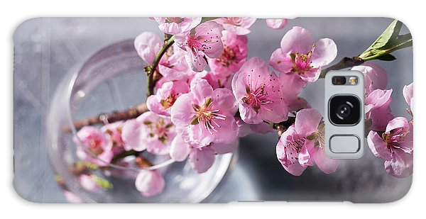 Pink Cherry Blossom Galaxy Case