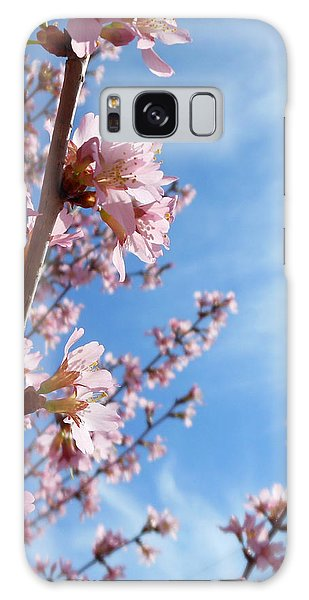 Pink Cherry Blossoms Branching Up To The Sky Galaxy Case