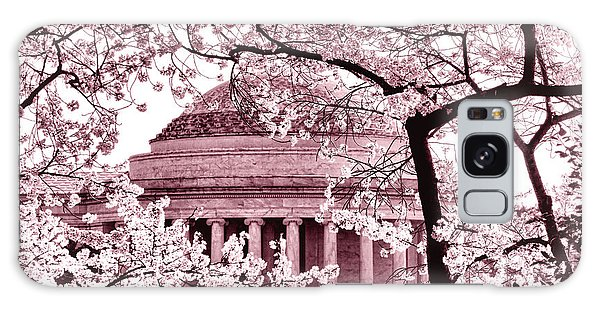 Pink Cherry Trees At The Jefferson Memorial Galaxy Case