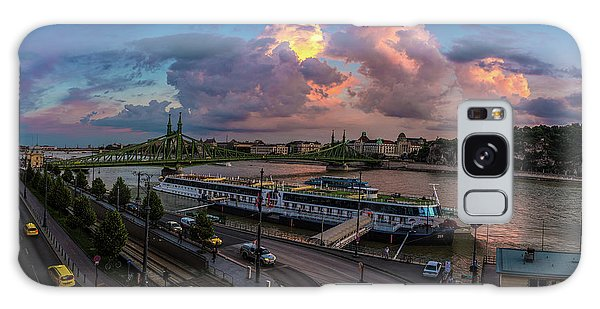 Pink Clouds Above The Danube, Budapest Galaxy Case