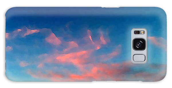 Pink Clouds Abstract Galaxy Case
