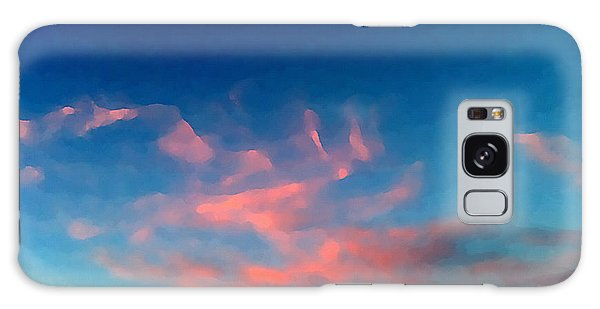 Galaxy Case featuring the digital art Pink Clouds Abstract by Shelli Fitzpatrick