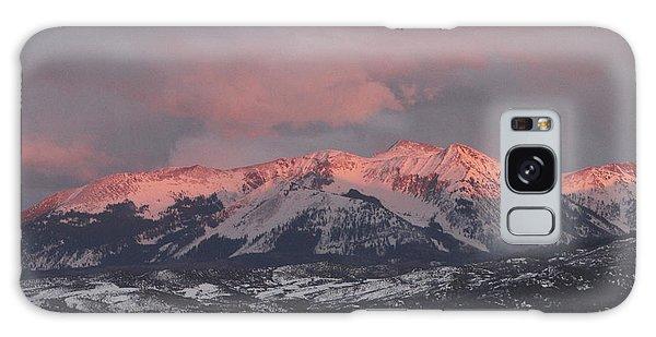 Pink Colorado Rocky Mountain Sunset Galaxy Case