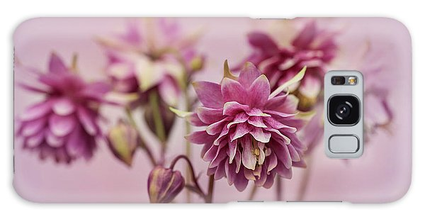 Pink Columbines Galaxy Case