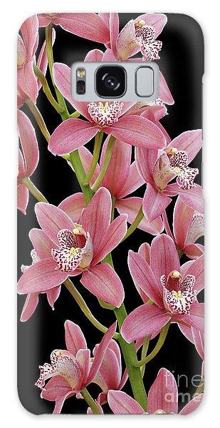 Pink Cymbidium Orchid Galaxy Case
