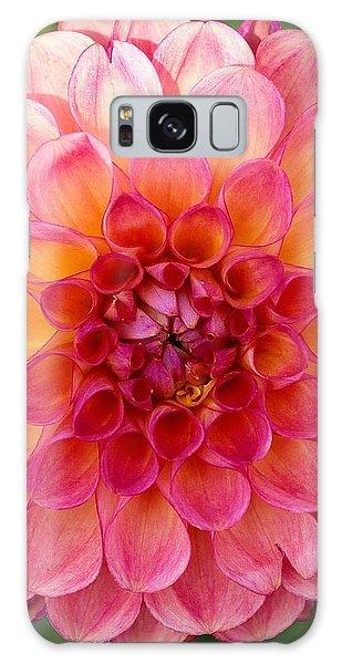 Pink Dahlia Galaxy Case
