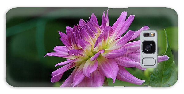Pink Dahlia Galaxy Case by Glenn Franco Simmons