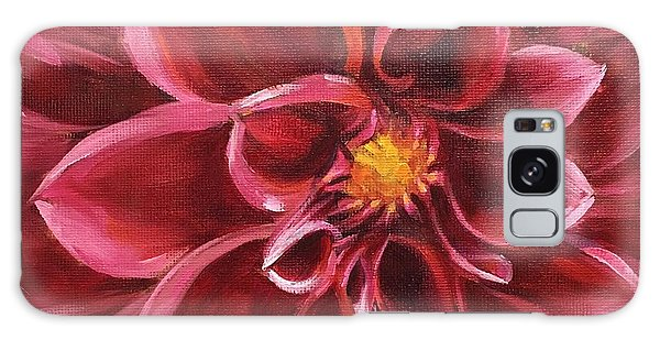 Pink Dahlia Galaxy Case by Pam Talley