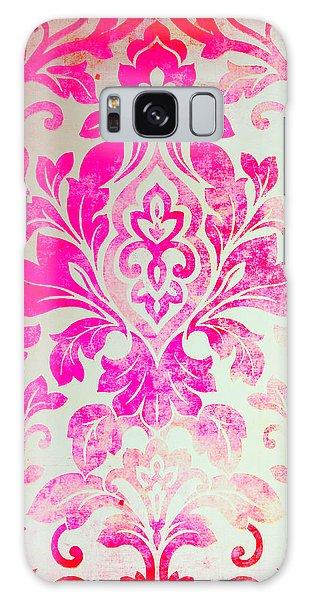 Pink Damask Pattern Galaxy Case