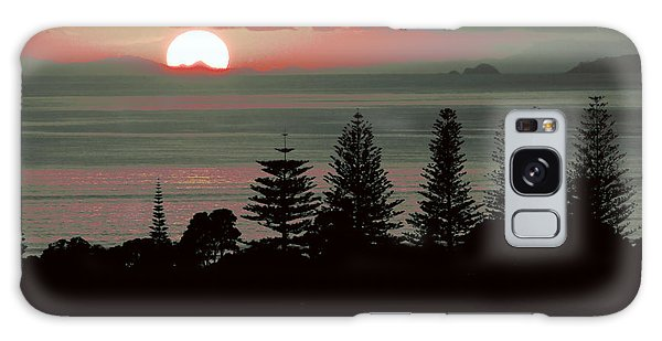 Pink Dawn Galaxy Case by Karen Lewis