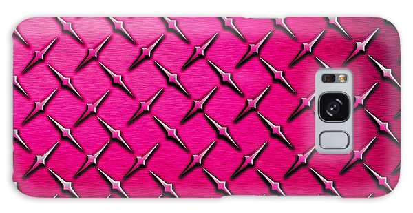 Fashion Plate Galaxy Case - Pink Diamond Plate  by Mark Moore