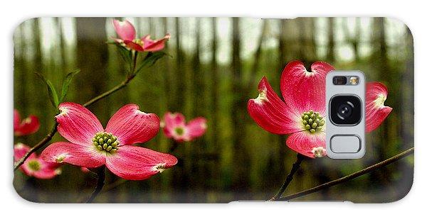 Pink Dogwood Flowers Galaxy Case
